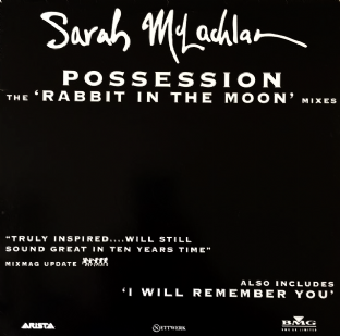 "Sarah McLachlan ‎- Possession (Rabbit In The Moon Mixes) (12"") (Promo) (VG/G+)"